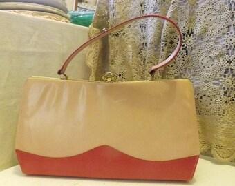 Vintage Two Tone Pink Ladies Handbag