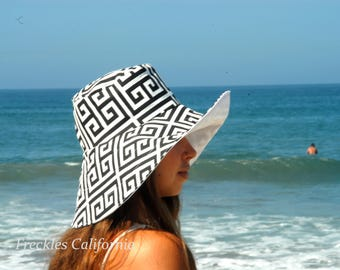 Summer Sun Hat Wide Brim Sunhat for Vacation SELECT COLOR Travel Hat Women's Sun Hat Honeymoon Gardening Pool Hat by Freckles California
