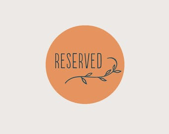 RESERVED for Vanessa