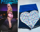 XXL Candy Heart and Blue MESH Big Heart Shorts 2X 20 22 24
