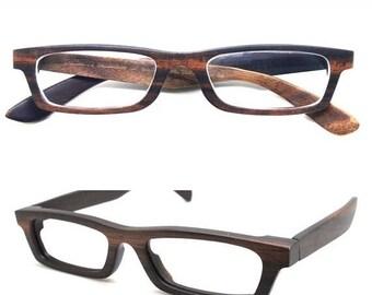 20% off SUMMER SALE Love-wood Handmade Ebony Takemoto prescription customize  Eyeglasses