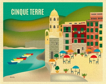 Cinque Terre Print,  Vernazza Print, Cinque Terre Art, Cinque Terre Italy art, Cinque Terre Canvas, Cinque Terre Poster,style E8-O-CINQ
