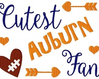Auburn // Football // Machine Embroidery Design // Sports Embroidery Design // Bonus Included // Joyful Stitches