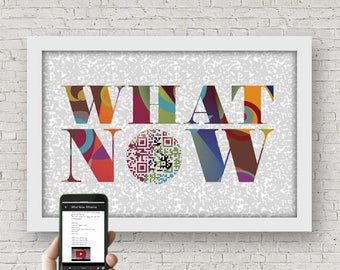What Now / Rihanna - Personalized 18th Birthday gift for her, Gifts for teenagers, Wall art,  Lyric Art, back to school, QR code video music