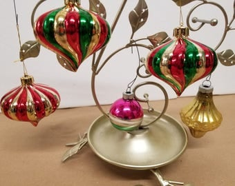 Set of 5 Vintage Christmas Ornaments