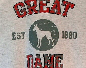 Womens TANK TOP Great Dane Dog Choose Size and Color 17413