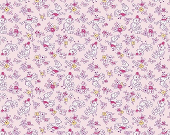 Dolly Birds Pink from the Little Dolly collection by Elea Lutz for Penny Rose / Riley Blake Fabrics