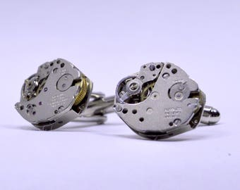 Watch Movement Cufflinks  ideal gift for the steampunk lover