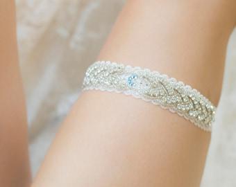 Wedding Garter - Swarovski Crystal Garter - Bling Personalized Bridal Garter