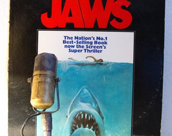 "ON SALE Jaws Vinyl Record Album Soundtrack 1970s Terror Thriller Summer Drama Horror Steven Spielberg Screen Classic John Williams ""Jaws"" (1"