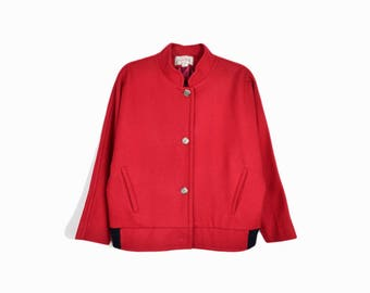 Vintage 80s Dolman Wool Jacket in Red / Vintage Valdecrafts Vermont - women's medium