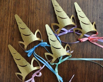 Unicorn Headband. Unicorn Crown Horn. Handcrafted in 2-3 Business Days. Unicorn Party Favors for Rainbow Party. Set of 5 or More.