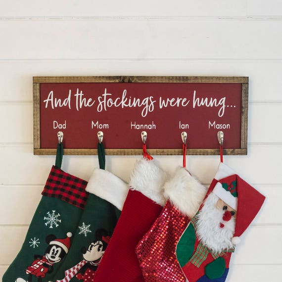 Personalized Christmas Stocking Holder