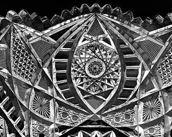 American Brilliant Cut Glass Bowl Large Crystal Bowl Centerpiece Bowl