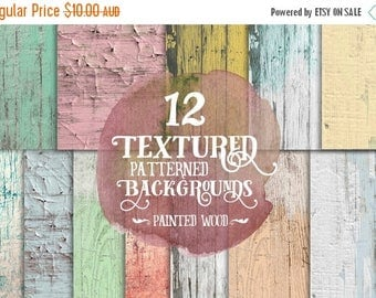 80% Off SALE Shabby Chic Wood Digital Paper, Wooden Backgrounds, Digital Scrapbook Paper, Timber Texture, Graphics, Invites