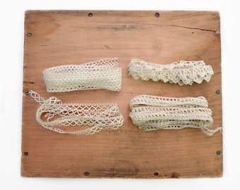 Four Strips of Thin Lace Trim