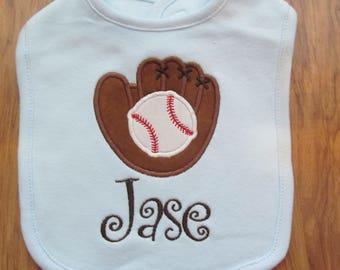 Personalized Baseball Baby Bib Monogram Baby Bib Custom Baby Bib Baby Bibs Monogram Baseball Custom Baseball Bib Baby Girl Bibs Baby Boy Bib
