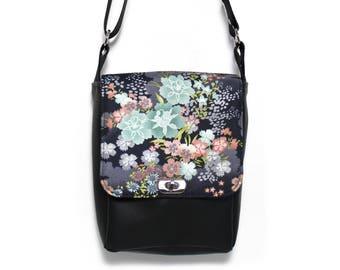 Vegan leather bag, crossbody bag, messenger bag, small bag cross body, everyday bag, minimalist bag, satchel, purse, shoulder bag, Japanese
