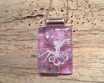 dichroic glass jewelry, fairy pendant,glass,fused glass,Dichroic Glass Pendant,Fused Glass Jewelry,Fused Dichroic Necklace,glass jewelry