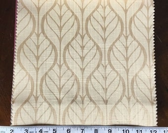 Custom Curtains Valance Roman Shade Shower Curtains in Champagne Leaf Pattern Fabric