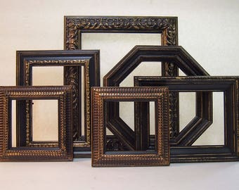 Home Decor Black Picture Frame Picture Frames Picture Frame Set Black and Gold Picture Frames Wedding Frames Photography Black Wall Decor