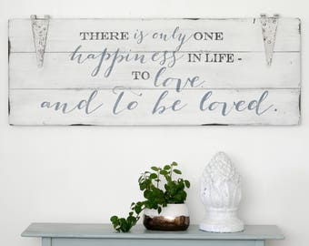 Love Wooden Sign, Rustic Wall Decor, Quote Sign, Bedroom Sign