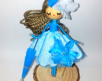 Brooch doll  / ooak doll/Fairy doll/ exclusive Miniature doll