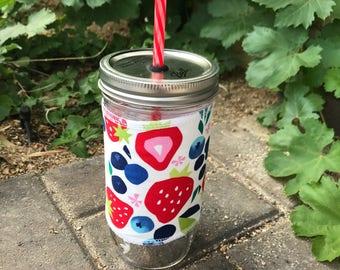 Berry Sweet sleeve straw lid DIY mason jar tumbler
