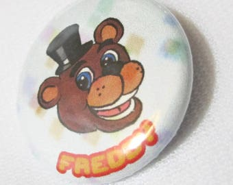 "Five Nights at Freddy's - 1980's Freddy Fazbear's Pizza 1.25"" Buttons"