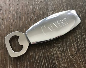 Engraved Bottle Opener - Personalized Groomsmen Gift - Monogram Beer Bottle Opener