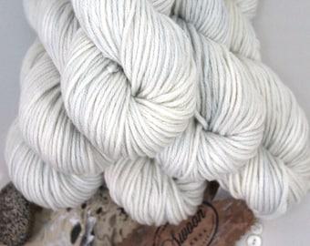 "Hand dyed 100% Cashmere Yarn, ""Rain"", Chunky, Mischa, Cashmere, pale blue-green"