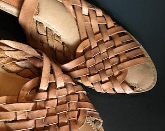 Woven Buckle Huarache Sandals 80's 9