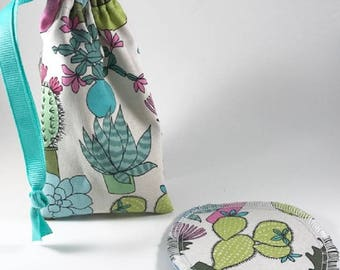 Cactus Menstrual Cup Bag, Menstrual Cup Pouch, Menstrual Cup Holder
