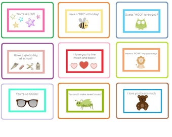 Lunch Box Love Notes Back to School Tags