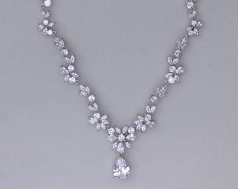 Bridal Necklace, Wedding Necklace, Crystal Bridal Necklace,  Crystal Wedding Necklace, ASHLEY C