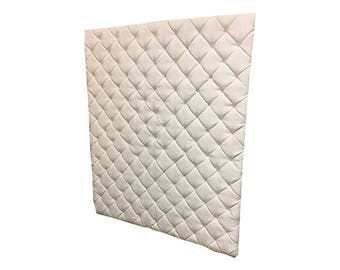 Tufted Wall Panel Headboard Upholstered Any Size Pick Fabric Wall Panels Murphy Bed Any Fabric Extra Tall MADE TO ORDER