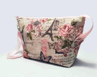 Makeup Bag With Built-In Organizer & Waterproof Inside Out - Rose II