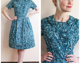 1960s Dress // Penny Paisley Dress // vintage 60s dress