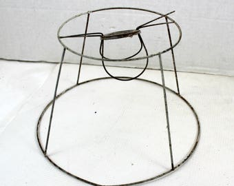 vintage wire lamp shade frame SOLD AS IS  edison lightbulb