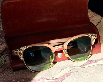 Awesome Rare Marked Lord retro sunglasses 1/10 of 12 kt gold filled . Original case