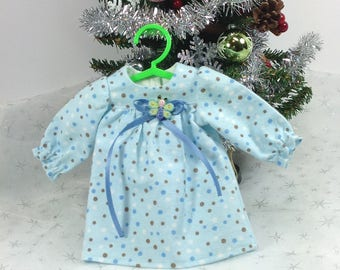 14 inch doll clothes-Blue Nightgown-fits like Wellie Wishers-Christmas-stocking stuffer