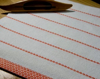 Hand Woven Kitchen Towel, GOTS Certified Organic Yarn, Woven Tea Towel, Hand Woven Guest Towel, Handwoven Dish Towel, Hand Woven Dish Towel