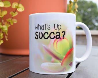 Succulent Mug - Succulent Gift - Plant Lovers Gift - Birthday Gift for Her - Cute Mug - Christmas Gift for Her - Tea Drinkers Gift