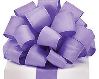 5+ Yards Purple Taffeta Ribbon - #9 - 1.5 Inch - Wired Edge - 5 Yards