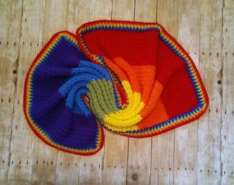 Rainbow Blanket Rainbow Baby Blanket Rainbow Striped Throw Blanket Rainbow Afghan Heirloom Keepsake Blanket