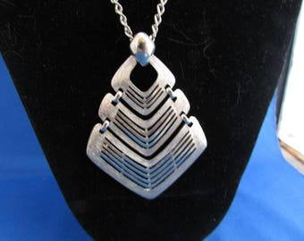 Large Silver Pendant Necklace from CMI