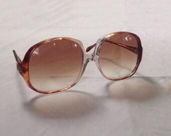 Anne Klein Sunglasses Italy Mod Vintage 80s Sun Glasses Women's Oversized Sunglasses Ombré Graduated Color Lens