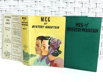 Meg of Mystery Mountain 1920s Adventure Book by Grace May North with Dustjacket