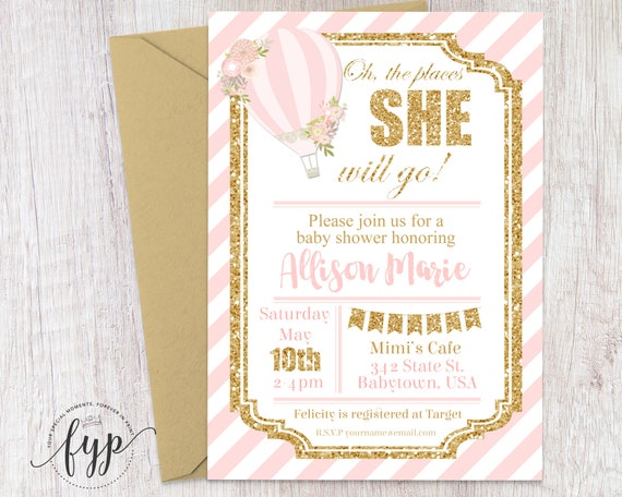 Up up and away baby shower invitation girl baby shower invite hot il570xn filmwisefo