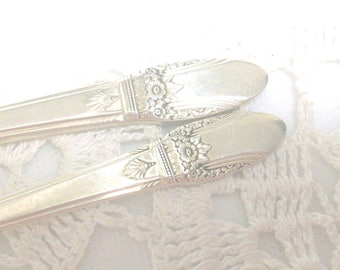First Love Silver Butter Knife & Sugar Spoon 1937 /